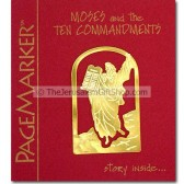 Moses and the Ten Commandments - 24kt Gold Plated Bookmark