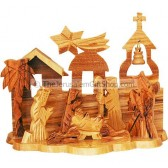 Nativity Scene With Bethlehem Church Ornament