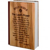Small Olive Wood covered New Testament and Psalms - King James