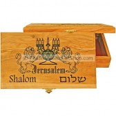 Large Olive Wood Box - Lion of Judah