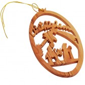 Christmas Tree Bethlehem Olive Wood Decoration