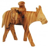 Olive Wood Donkey Carrying Two Jars - Made in Bethlehem
