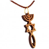 Olive Wood 'Grafted In' - Messianic symbol Pendant - Made in Israel