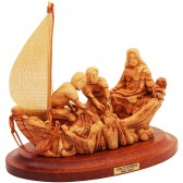 Jesus and the Miraculous Catch of Fish - Olive Wood Ornament - Made in Bethlehem - 3 Sizes