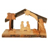 Olive Wood Nativity Scene Ornament from the Holy Land l Open Stable
