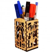 Olive Wood Biblical Bethlehem Scenes Desktop Office Organizer
