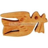 Dove Brooch - Olive Wood