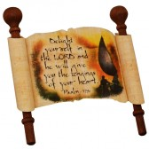 Biblical Scripture on Real Papyrus - Delight Yourself in The Lord - Psalm 37-4