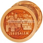 Pill Box Jerusalem Olive Wood
