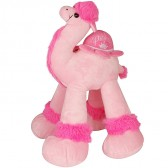 Stuffed Pink Toy Camel with 'Princess Jerusalem' and 'Crown' Embroidered Saddle