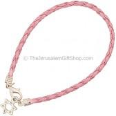 Star of David Bracelet - Pink