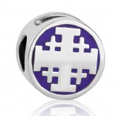 'GraceLet Bracelet' - Jerusalem Cross in Royal purple by Marina