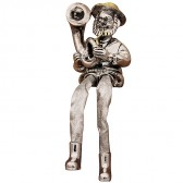 Hassidic Jew Figurine - Blowing a Trombone