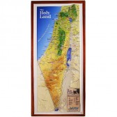 Raised-Relief 3D Map of the Holy Land - Footsteps of Jesus - Wall Hanging