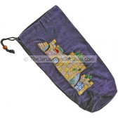 Velvet Shofar Bag for Rams Horn - Jerusalem