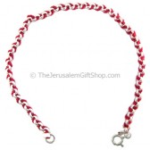 Red String and Sterling Silver Cord Bracelet