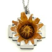 The Rose of Bethlehem Silver 'Jerusalem Cross' Necklace