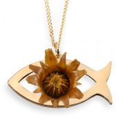 The Rose of Bethlehem Gold Fill 'Ichthus' Necklace