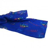 Biblical Scarf - The Ten Commandments - Blue