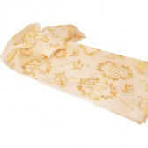 Biblical Scarf - I Am My Beloved's - Cream and Gold