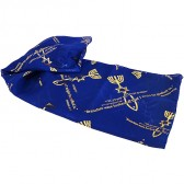 Biblical Scarf - Grafted In Romans 11:19 - Blue