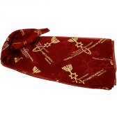 Biblical Scarf - Grafted In Romans 11:19 - Burgundy