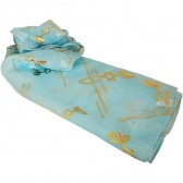 Biblical Scarf - Grafted In Romans 11:19 - Light Blue