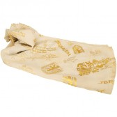 Biblical Scarf - Pray For The Peace of Jerusalem - Cream