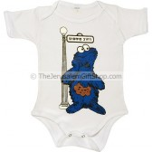 Sesame Street in Hebrew - Cookie Monster Bodysuit