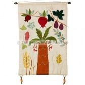 Seven Species Raw Silk Wall Hanging