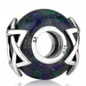 `Gracelet` Bracelet Silver Star of David on Azurite Stone  by Marina