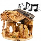 Musical 'Silent Night' Nativity from Olive Wood