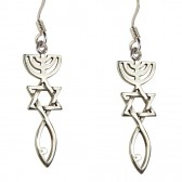 'Grafted In' Messianic Earrings - Sterling Silver