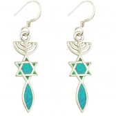 Grafted in Opal Earrings - Sterling Silver