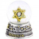 Snow Ball - Jerusalem with Star of David - Silver