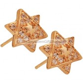 Star of David Goldfill Studs with Zircon