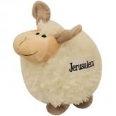 Stuffed Lamb Kids Toy with 'Jerusalem' - Holy Land Souvenir - 8 inch