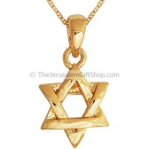 Star of David - Interwoven - Gold Fill Pendant