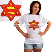 Superman - Woman Star of David Tshirt