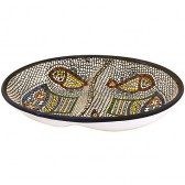 Armenian Ceramic Double Snack 'Tabgha' Dish
