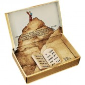 'Tablets of Moses' 'Ten Commandments' in Hebrew on Stones Quarried from Sinai