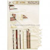 Talitnia Wool Tallit - Bordeaux and Gold