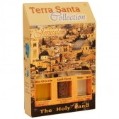 Terra Santa Collection - Holy Land Elements Gift Pack 'Jerusalem' with Olive Oil, Earth and Water