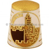 Thimble with David's Tower in Jerusalem
