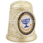 Thimble with Jerusalem and Menorah