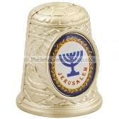Thimble with Jerusalem and Menorah