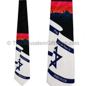 Tie - Pray for the Peace of Jerusalem on Israeli Flag