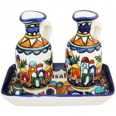 Matching Jerusalem Tray and Jugs - Made in the Holy Land