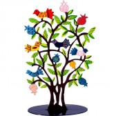 Laser Cut Hand Painted Metal Stand - Tree