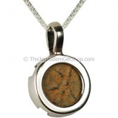 Genuine Widows Mite Coin Pendant